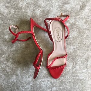 Red Braided SJP Heels